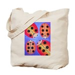 Lady Bugs Tote Bag