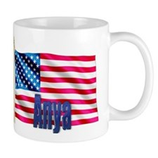 Anya Personalized USA Flag Mug