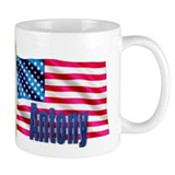 Antony Personalized USA Flag Small Mug