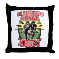 Rugby Survival Throw Pillow
