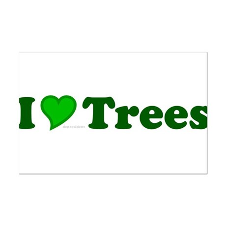 I Love Trees Mini Poster Print