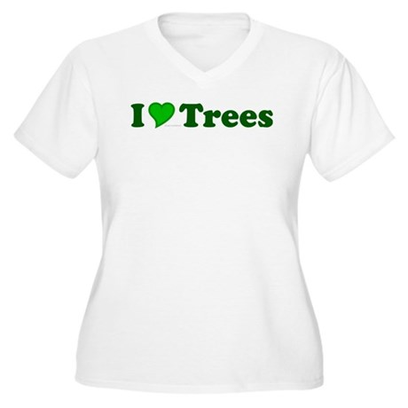 I Love Trees Plus Size V-Neck Shirt