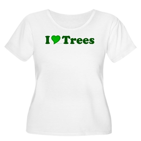 I Love Trees Plus Size Scoop Neck Shirt