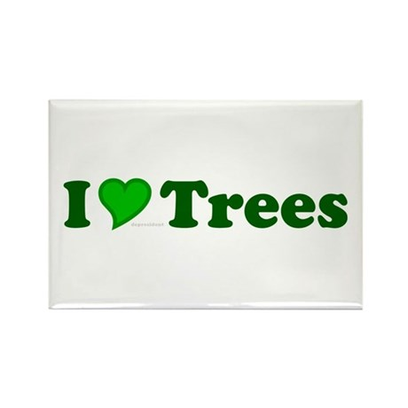 I Love Trees Rectangle Magnet (100 pack)