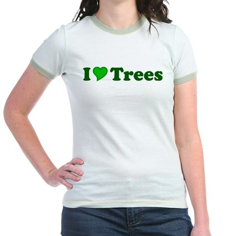 I Love Trees Jr Ringer T-Shirt