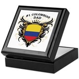 Number One Colombian Dad Keepsake Box