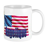 Angelique Personalized USA Flag Small Mug