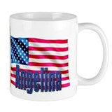 Angelina Personalized USA Flag Mug