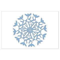 Flowerflake Large Poster