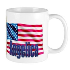 Angelica Personalized USA Flag Mug