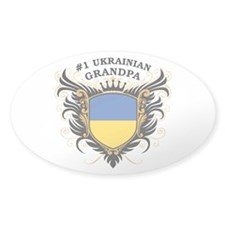Number One Ukrainian Grandpa Oval Decal