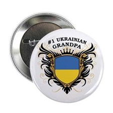 "Number One Ukrainian Grandpa 2.25"" Button"