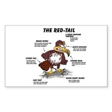 The Red-tail Rectangle Decal