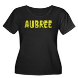 Aubree Faded (Gold) Women's Plus Size Scoop Neck D
