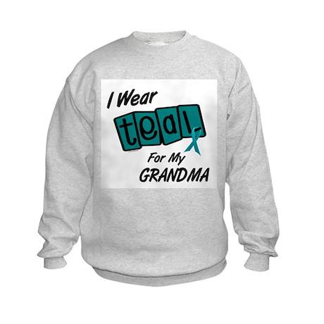 I Wear Teal 8.2 (Grandma) Kids Sweatshirt