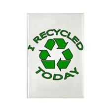 I Recycled Today Rectangle Magnet (10 pack)