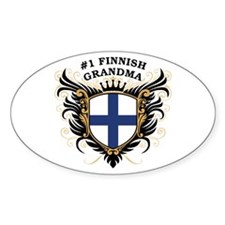 Number One Finnish Grandma Oval Decal