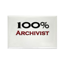 100 Percent Archivist Rectangle Magnet