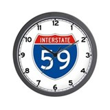 Interstate 59, USA Wall Clock
