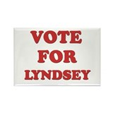 Vote for LYNDSEY Rectangle Magnet