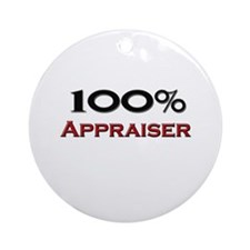 100 Percent Appraiser Ornament (Round)