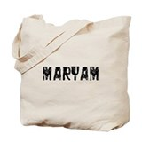 Maryam Faded (Black) Tote Bag