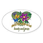 Beautiful Mother-in-law Oval Sticker (10 pk)