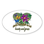Beautiful Mother-in-law Oval Sticker