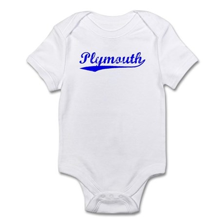 Vintage Plymouth (Blue) Infant Bodysuit