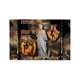 Greek Goddess Euterpe Rectangle Magnet