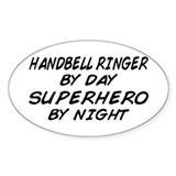 Handbell Superhero by Night Oval Decal