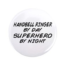 "Handbell Superhero by Night 3.5"" Button"