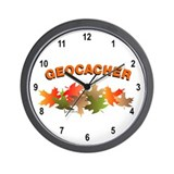 Autumn Geocaching Wall Clock
