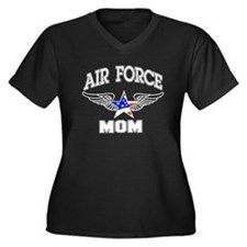 Air force Mom Women's Plus Size V-Neck Dark T-Shir