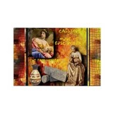 Greek Goddess Calliope Rectangle Magnet