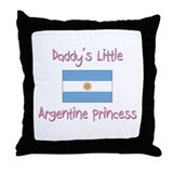 Daddy's little Argentine Princess Throw Pillow