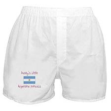 Daddy's little Argentine Princess Boxer Shorts