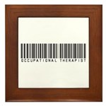 Occupational Therapist Barcode Framed Tile