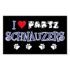 I Love Parti Schnauzers 2.0 Rectangle Sticker 10