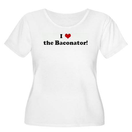 I Love the Baconator! Women's Plus Size Scoop Neck