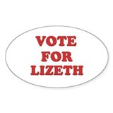Vote for LIZETH Oval Decal