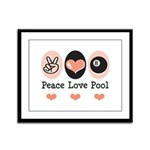Peace Love Pool Eight Ball Framed Panel Print