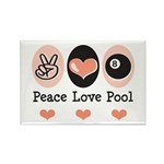 Peace Love Pool 8 Ball Rectangle Magnet (100 pack)