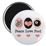 Peace Love Pool Eight Ball 2.25