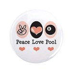 Peace Love Pool Eight Ball 3.5