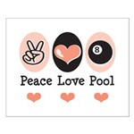 Peace Love Pool Eight Ball Small Poster