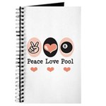 Peace Love Pool Eight Ball Journal