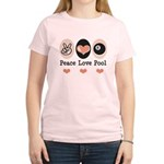 Peace Love Pool Eight Ball Women's Light T-Shirt