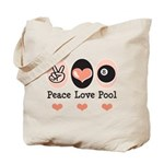 Peace Love Pool Eight Ball Tote Bag