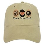 Peace Love Pool Eight Ball Cap